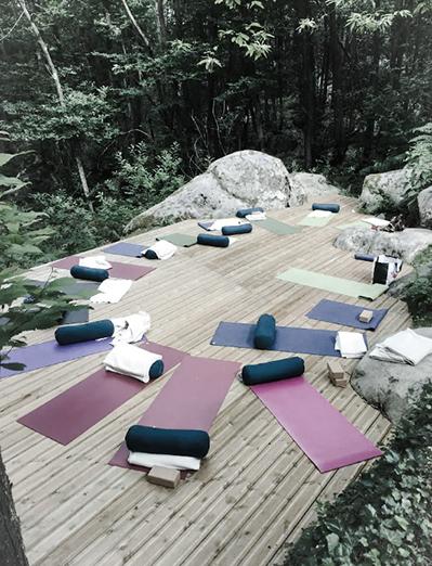 yoga et méditation en pleine nature