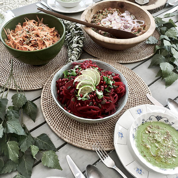 Déjeuner healthy vegan naturopathie sain et coloré en pleine nature avec Wacohe