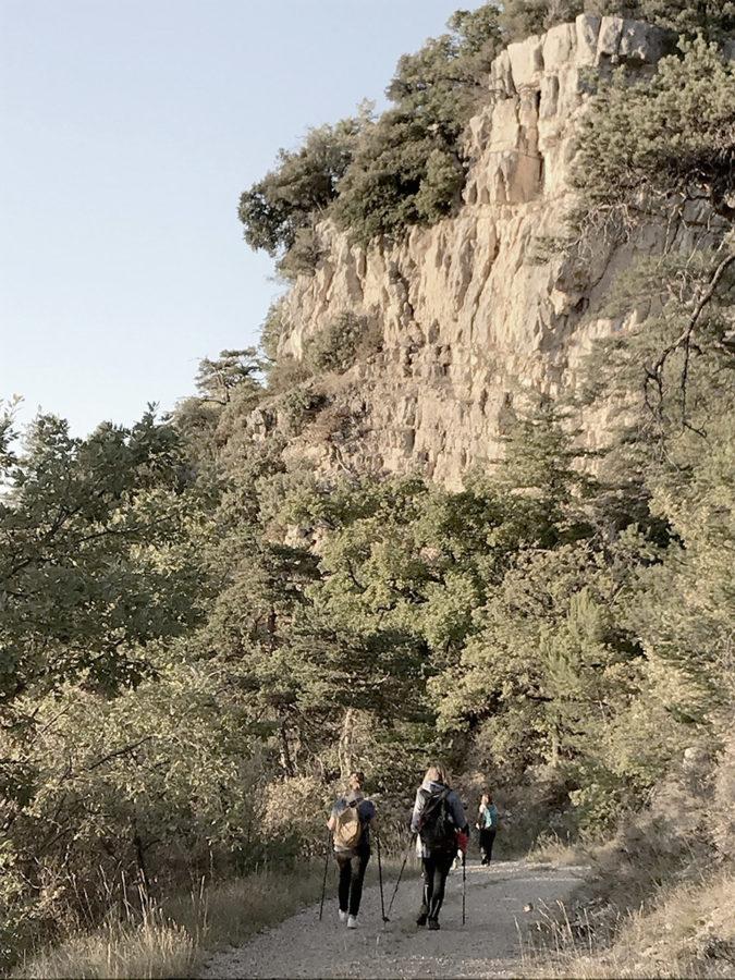 randonnée au coucher de soleil en drôme séjour rando naturopathie