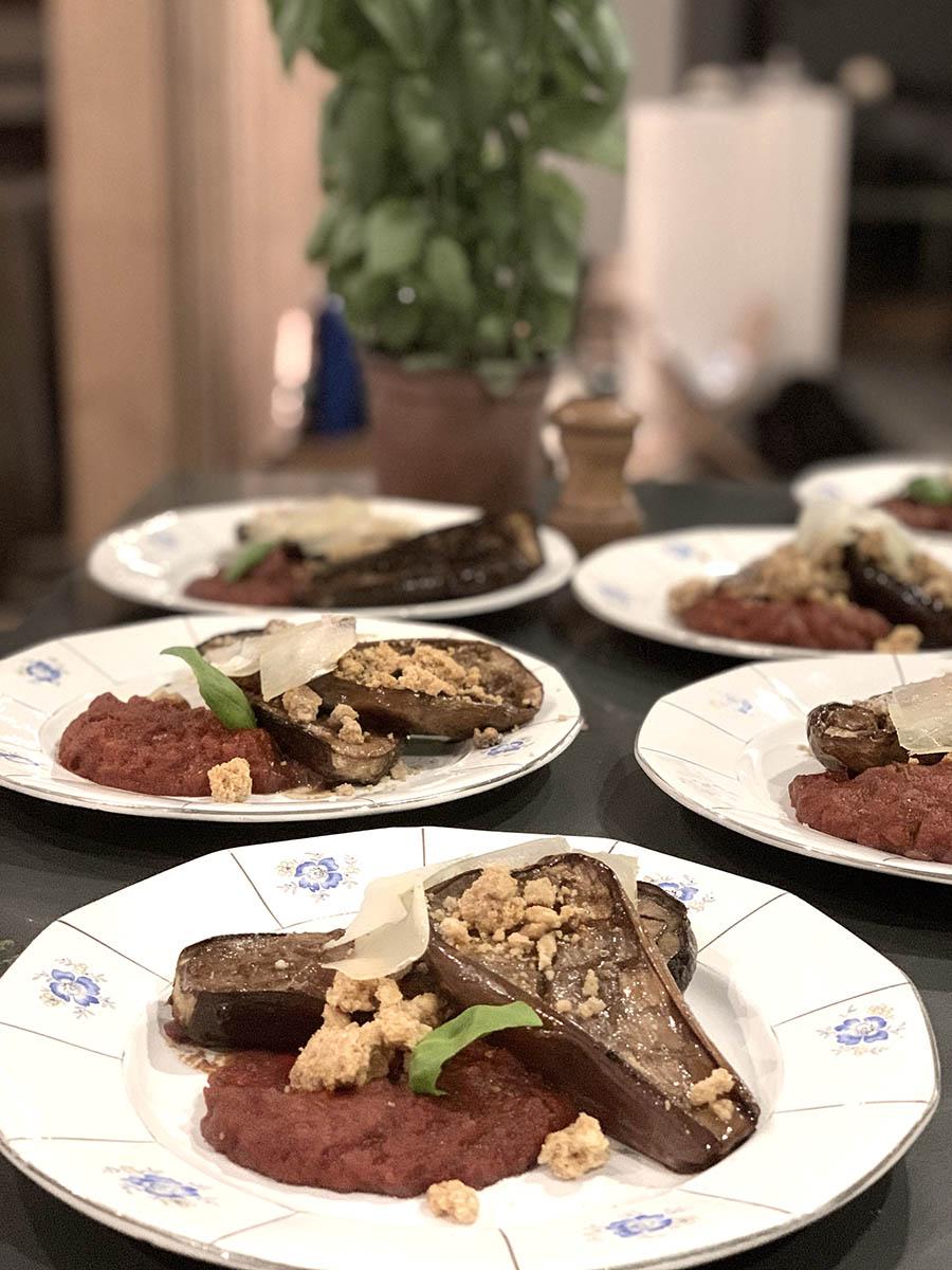 Diner vegan par la cheffe healthy Julie pour le séjour rando detox by wacohe