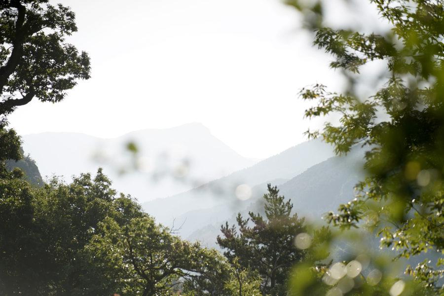 Vue des montagnes de la vallée des merveilles