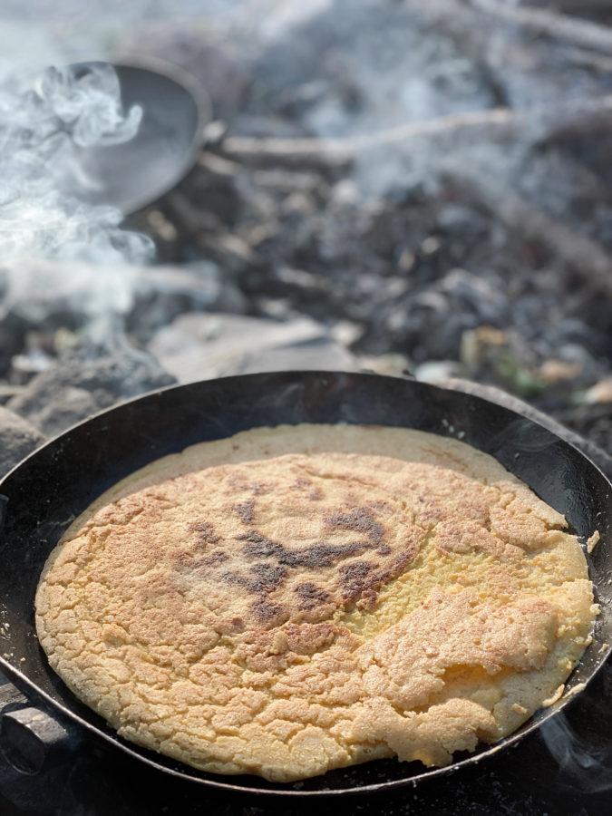 cuisine au feu de bois séjour bivouac de wacohe