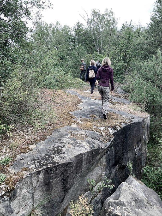 rando dans les carrières lors du séjour Rando botanique en cabane en forêt de Fontainebleau par wacohe
