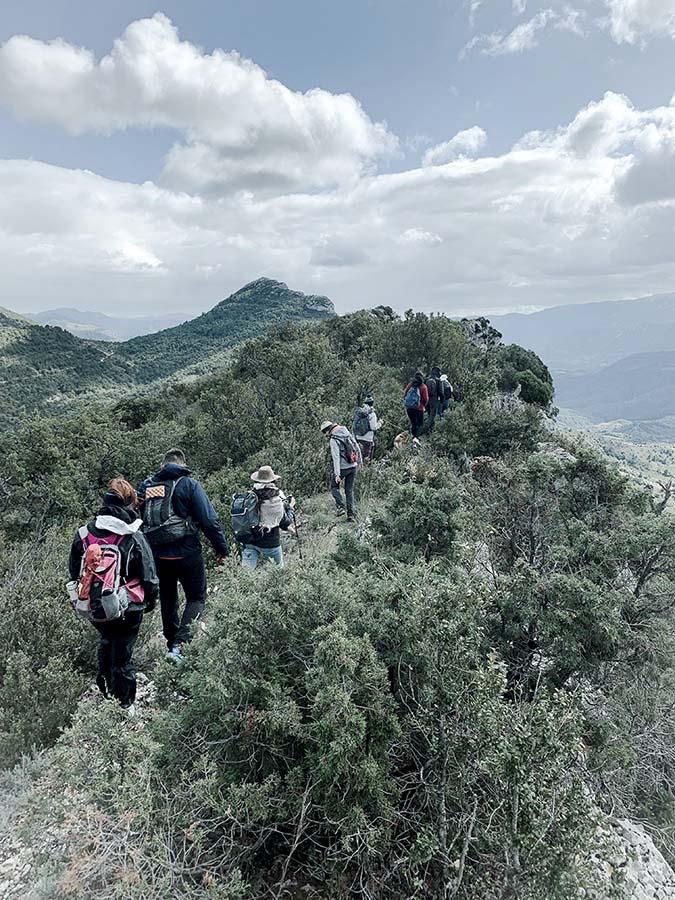 trekking sur les crêtes en drôme provençale pour le séjour énergétique et spirituel se relier au vivant de wacohe